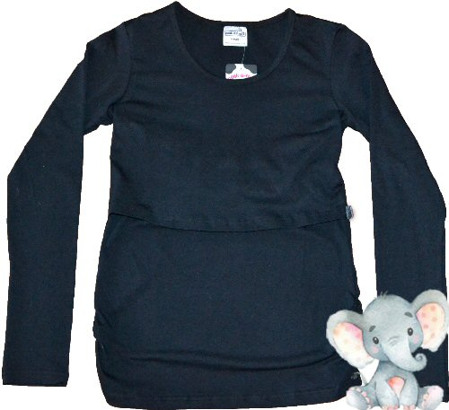 Peek-A-Moo Breastfeeding Long Sleeve Shirt
