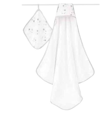 Aden & Anais Hooded Towel And Washcloth Set