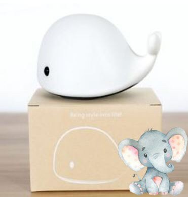 Silicone Whale Night Light