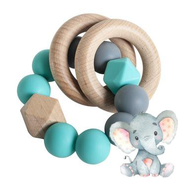 Ruby Melon Rattle Ring Teether