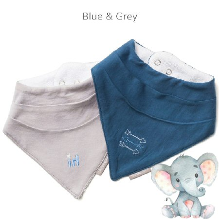 Bandana-Bib-Blue Grey