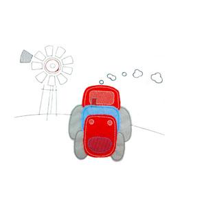 Piece Cot Linen Set - Tractor 4